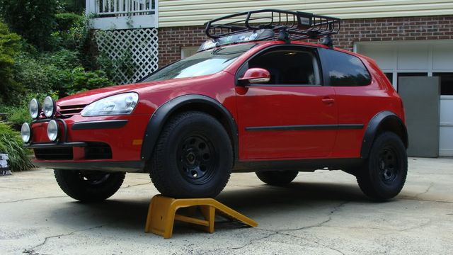 lifted vehicle