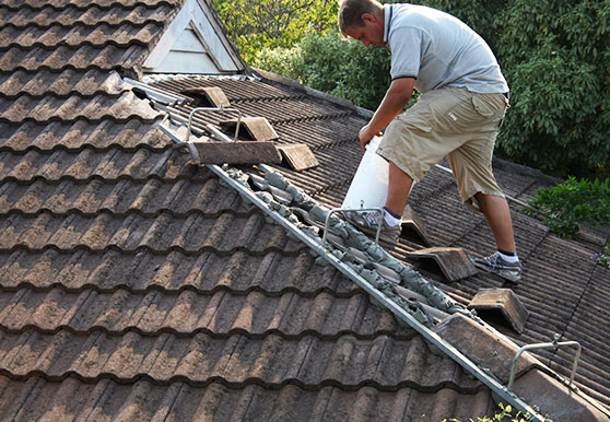 Roof covering repair